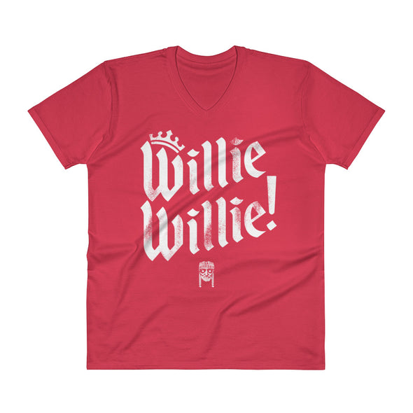 Willie Willie - A True Friend of The Crown Bud Light & Willie Nelson Inspired V-Neck T-Shirt - ATX HUMOR