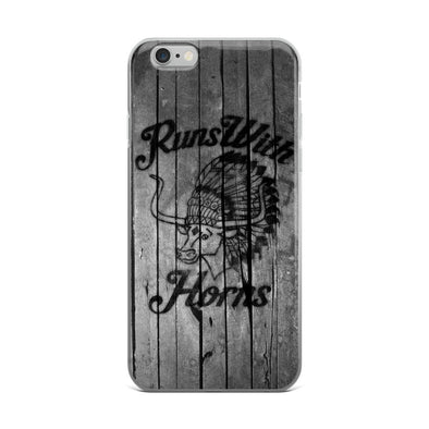 Chief Runs With Horns (Grey Wood) iPhone Case - ATX HUMOR