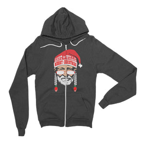 Have A Willie Merry Christmas - Willie Nelson Inspired - Zip Hoodie - ATX HUMOR