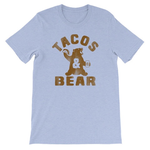 Tacos & Bear (Brown Print) Unisex Shirt