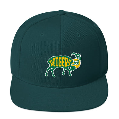 Aaron Rodgers Inspired - The GOAT 12 Green Bay Football Snapback Hat - ATX HUMOR