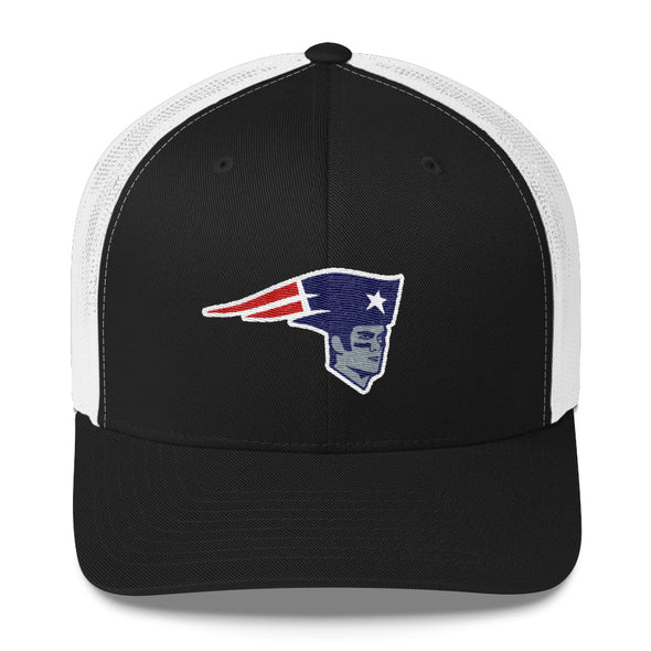 "Tom Brady New England Patriots Inspired  ""The Bratriot"" Trucker Cap - ATX HUMOR"