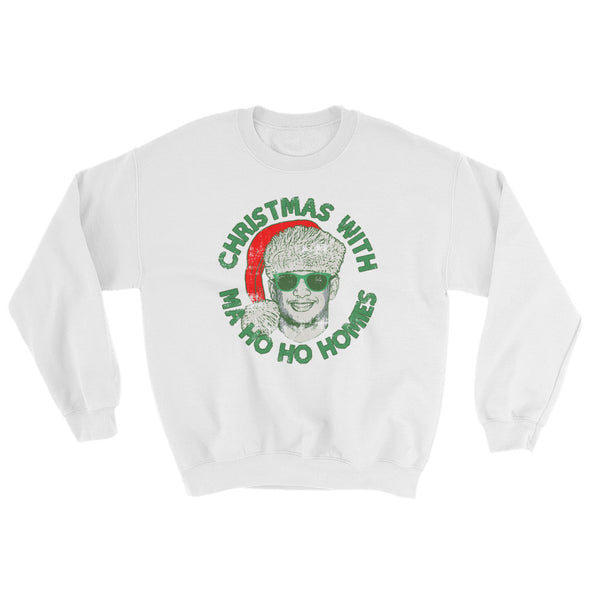 Christmas With Ma Ho Ho Homies - Patrick Mahomes Chiefs Ugly Sweater Inspired - Unisex Sweatshirt - ATX HUMOR