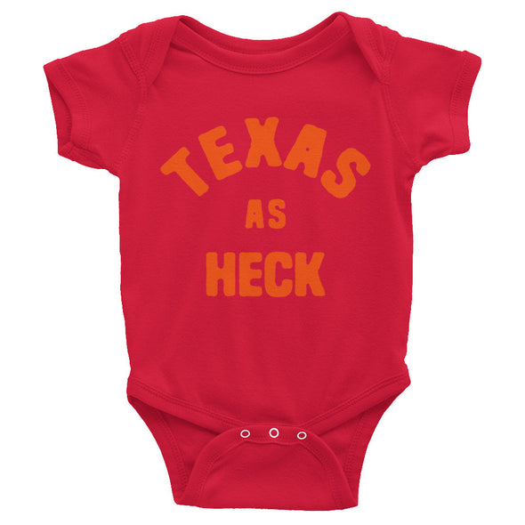 Texas As Heck (Orange) Baby Onesie - ATX HUMOR