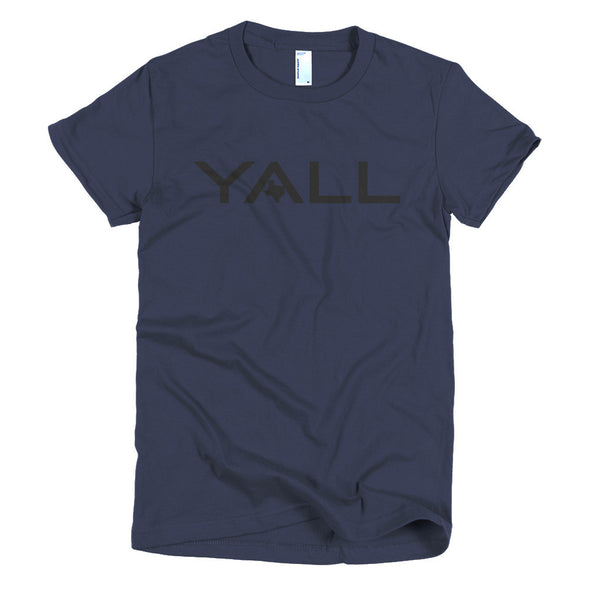 Y'all Surf Style (Black Print) Womens T-Shirt - ATX HUMOR