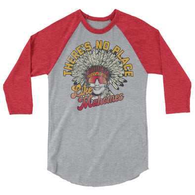 There's No Place Like Mahomes - Patrick Mahomes Kansas City Chiefs Inspired - Unisex Raglan Shirt - ATX HUMOR