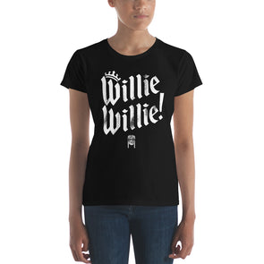 Willie Willie - A True Friend of The Crown Bud Light & Willie Nelson Inspired Womens T-Shirt - ATX HUMOR