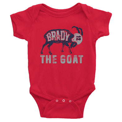 Tom Brady The GOAT (Navy Print) Baby Onesie - ATX HUMOR