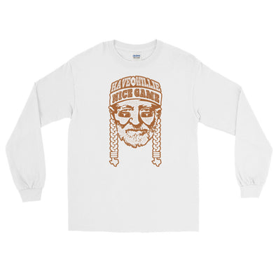 Have A Willie Nice Game - Texas Football Willie Nelson Inspired -  Long Sleeve T-Shirt - ATX HUMOR