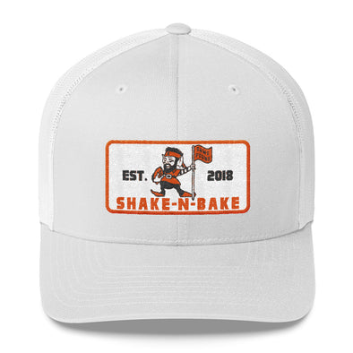 Shake and Bake - Baker Mayfield - Flag Plant - Cleveland Browns Inspired - Trucker Cap - ATX HUMOR