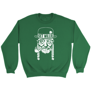 Get Willie Lucky - Willie Nelson Inspired - St. Paddy's Day Unisex Sweatshirt - ATX HUMOR