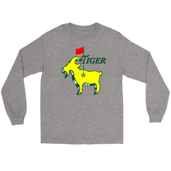 Tiger Woods - Good at Golf -The GOAT - Greatest Comeback Long Sleeve T-Shirt - ATX HUMOR