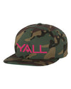 Y'all Surf Style Snapback Hat - ATX HUMOR