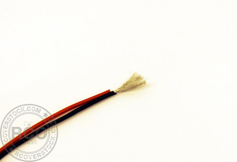 RC Overstock 18AWG Silicone Wire Pair (Red-Black) 1FT | RC Overstock