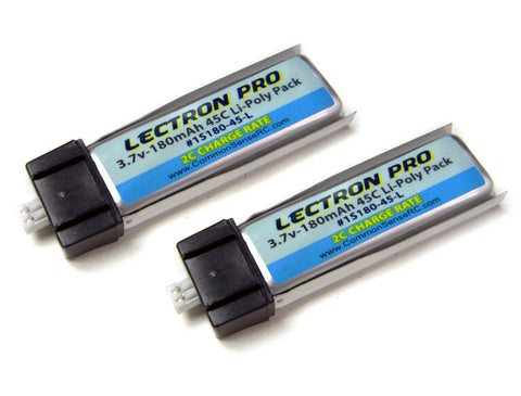 Lectron Pro Lectron Pro 3.7V 180mAh 45C Lipo Battery 2-Pack | RC Overstock