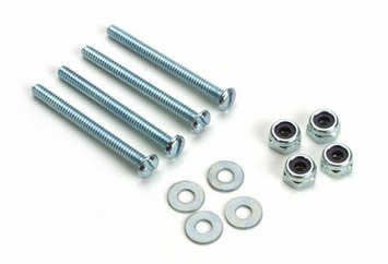 "Du-Bro Bolt Sets With Lock Nuts 4-40 x 1-1/4"" (QTY/PKG: 4 ) 