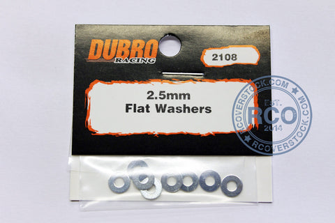 Du-Bro 2.5MM Flat Washers (8/pkg) | RC Overstock