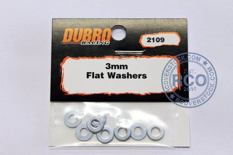Du-Bro 3.0MM Flat Washers (8/pkg) | RC Overstock