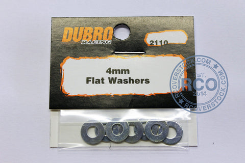 Du-Bro 4.0MM Flat Washers (8/pkg) | RC Overstock