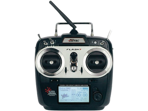 Hitec Flash 7 Transmitter w/Optima 7 Rx | RC Overstock