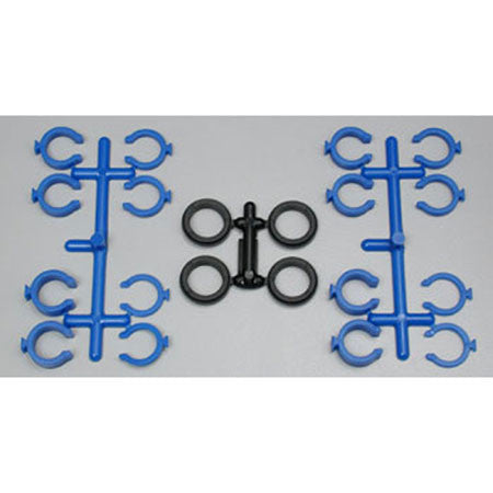 RPM Quick Adj Spring Clips,Blue:TRA/LOS Shocks | RC Overstock
