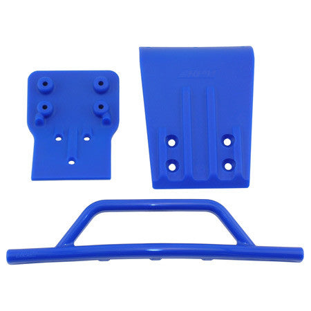 RPM Front Bumper/Skid Plate, Blue: SLH 4x4 | RC Overstock