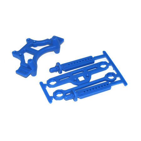 Shock Tower and Body Mount, Blue: TMX 3.3, EMX