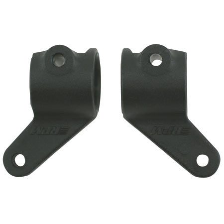 RPM Front Bearing Carriers, Black: RU, ST, BA, SLH | RC Overstock