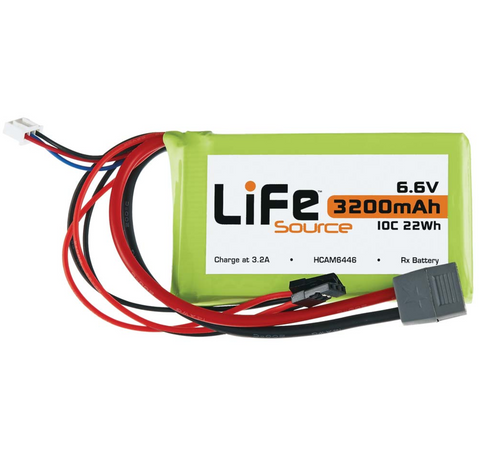 Hobbico LifeSource LifeSource LiFe 6.6V 3200mAh 10C Rx Battery | RC Overstock