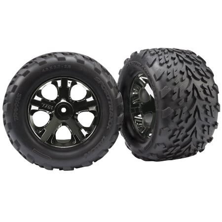Traxxas All-Star Blk Chrome Whls w/ Talon Tires(2),FR:SVXL | RC Overstock