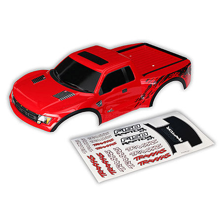 Traxxas Body, Ford Raptor; Red (Painted / Decals Applied) | RC Overstock