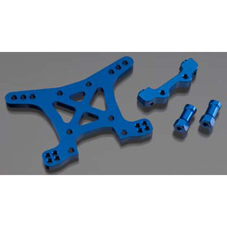 Traxxas Aluminum Front Shock Tower, Blue: SLH 4x4 | RC Overstock