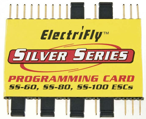 ElectriFly Silver Series Programming Card SS-60 SS-80