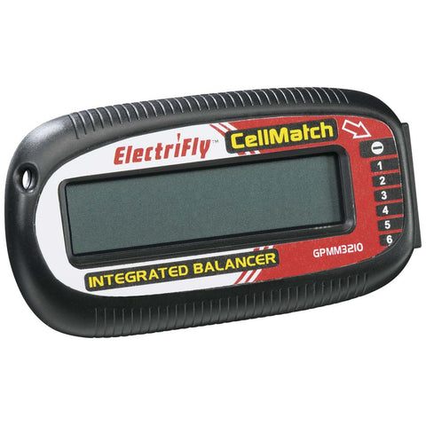 Electrifly CellMatch LiPo 2-6S Balancer Meter w/LCD