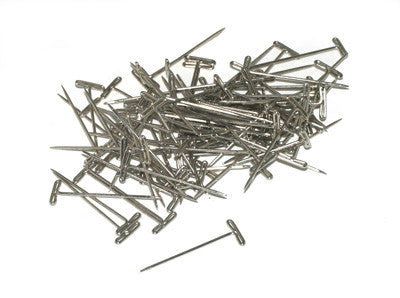 "Du-Bro Nickel Plated T-Pins 1-1/4"" (QTY/PKG: 100 ) 