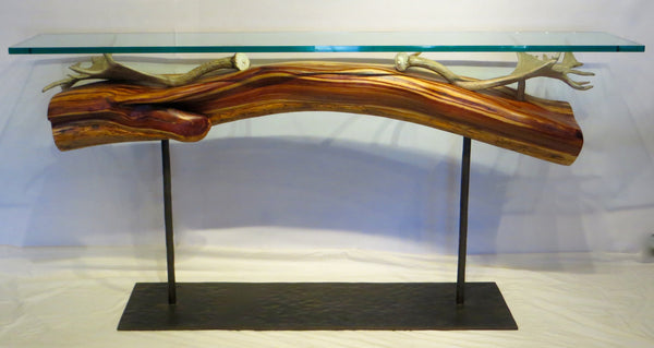 Fallow Deer Antler and Juniper Console Table