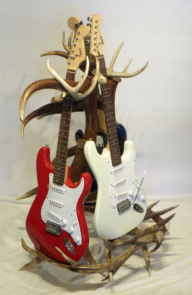 Fallow Deer, Mule Deer, White Tail Deer and Elk Antler Guitar Rack