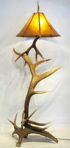 Exceptionally Large Elk Antler Floor Lamp
