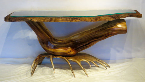 Redwood, Juniper and Moose Console Table
