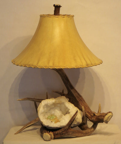 Antler and Geode Table Lamp