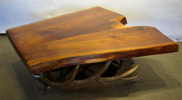 Black Walnut and Moose Paddle Coffee Table