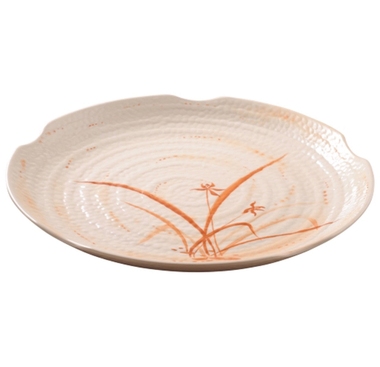 Melamine Gold Orchid Lotus Shape Plate (12 Pack), Melamine - eKitchenary