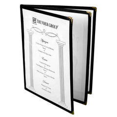 Menu Cover, 3 Page Book Fold (10 Pack)