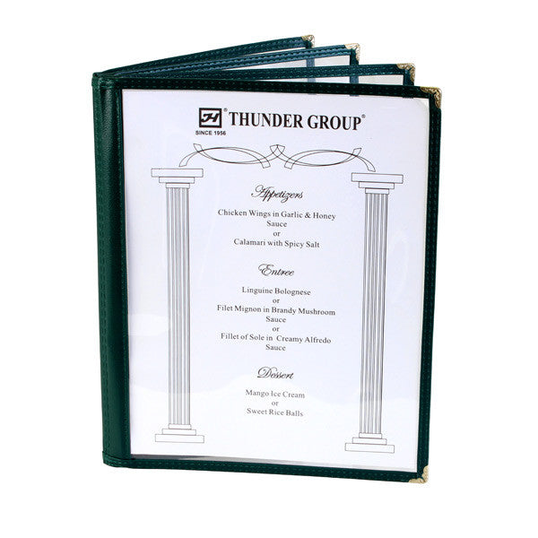 Menu Cover, 4 Page Book Fold (10 Pack), Tabletop - eKitchenary
