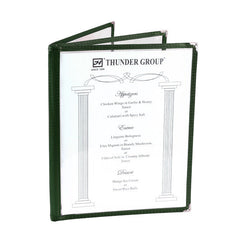 Menu Cover, 3 Page Book Fold (10 Pack), Tabletop - eKitchenary