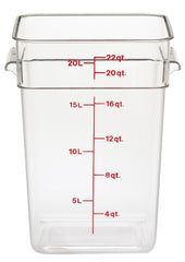 Cambro Square Clear Container (Case-6pcs)