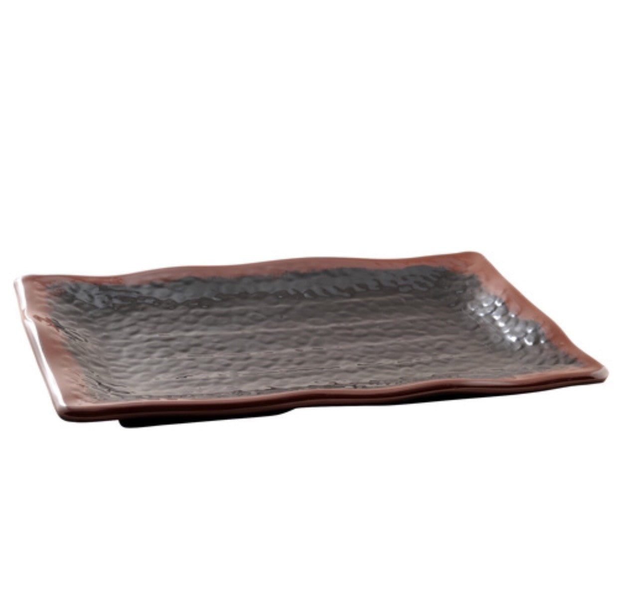 Melamine Tenmoku Wave Rectangular Plate (12 Pack), Melamine - eKitchenary