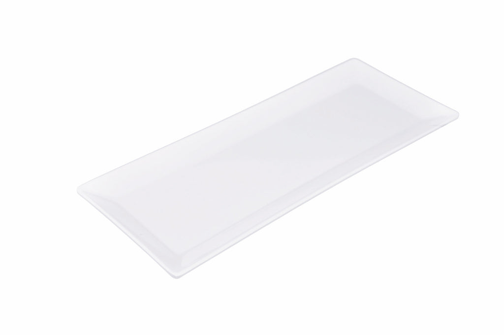 Melamine KP Classic Rectangular Appetizer Plate (12 Pack), Tabletop - eKitchenary