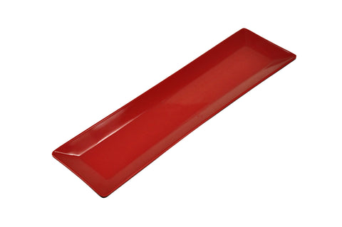 Rectangular Melamine Two Toned Plate, Red/Black (12 Pack)