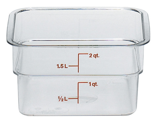 Cambro Square Clear Container (Case-6pcs), Food Container - eKitchenary